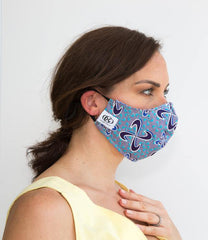 HEPA99 face mask - 100% Cotton |  Pocket Inserts | Reversible | Washable - Avery Blue - OGONEWYORK | Contemporary Womenswear | Ethical | Kind