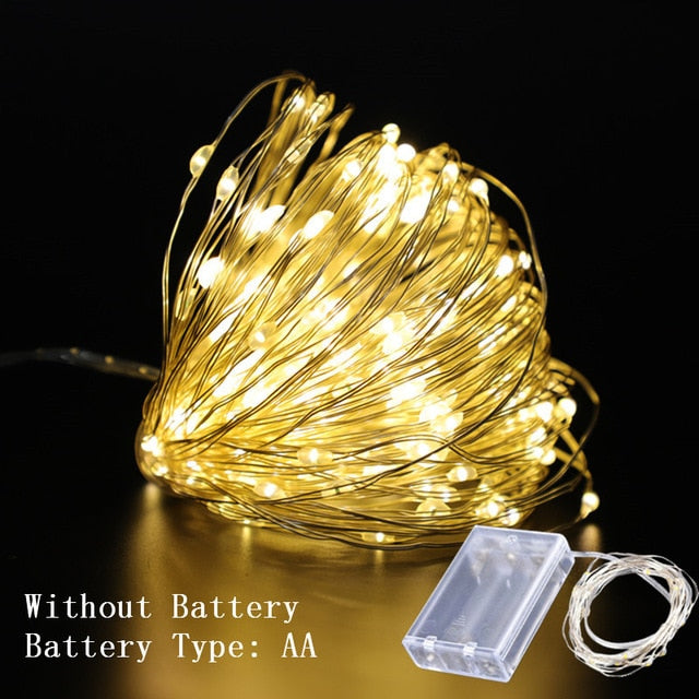 1m 2m 3m 5m 10m Copper Wire Led String Lights Christmas Decorations Fo Mirror Choice