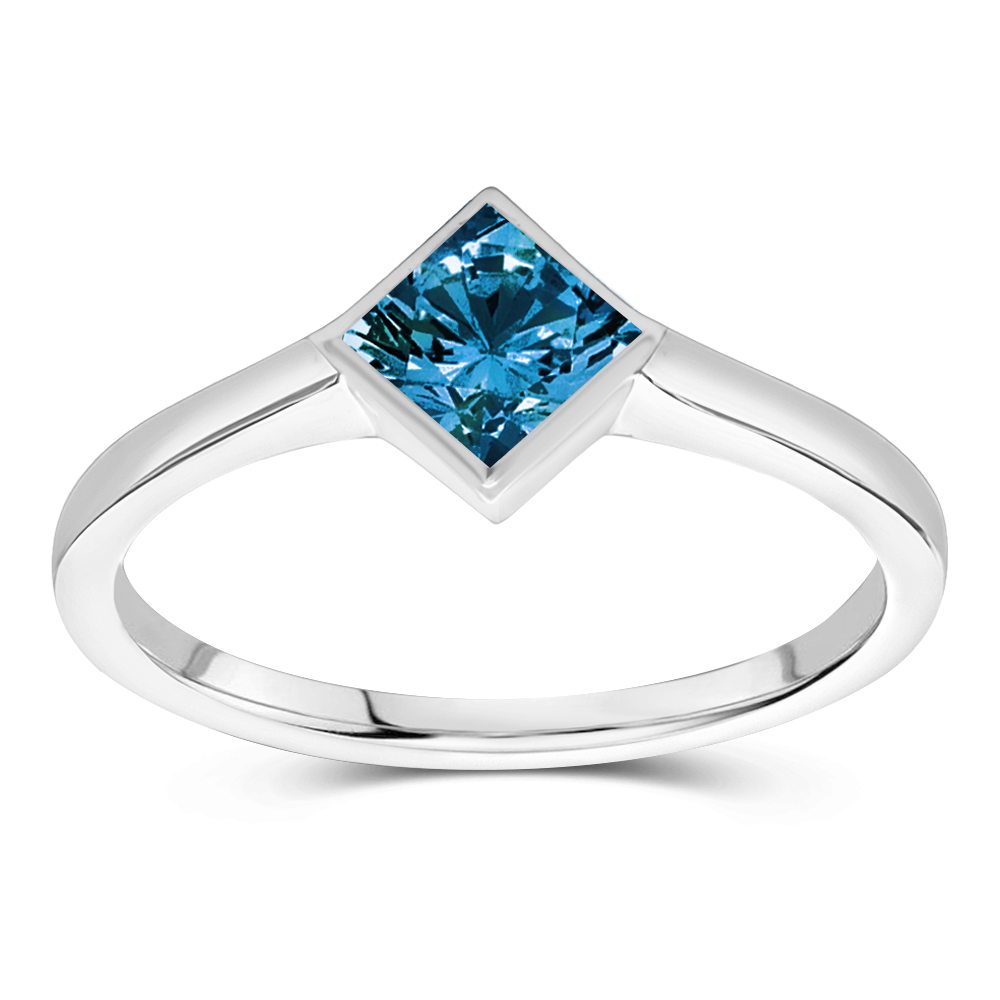 The Cecilia - Natural Blue Diamond