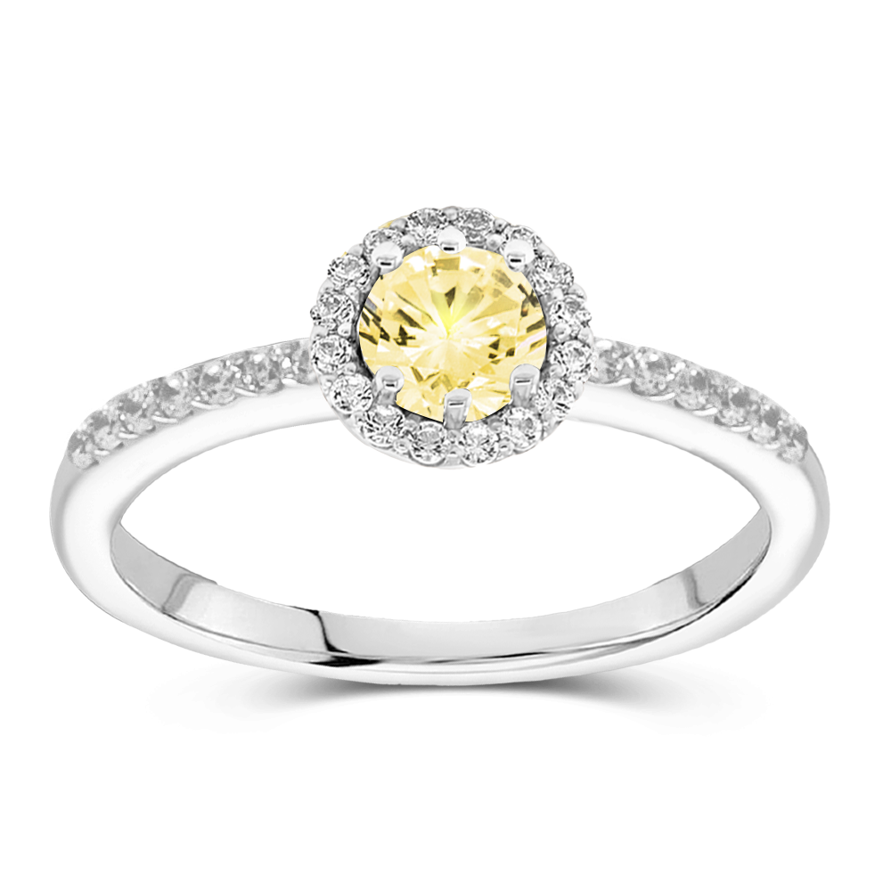 The Claudette - Natural Yellow Diamond