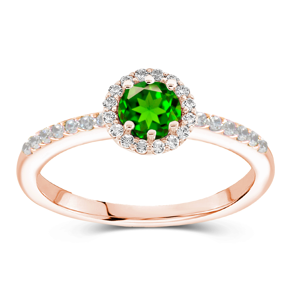 The Claudette - Natural Green Tsavorite