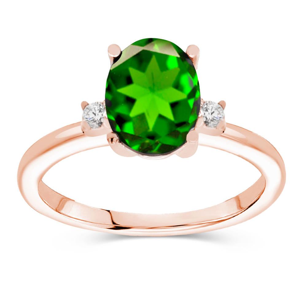 The Demi - Natural Green Tsavorite