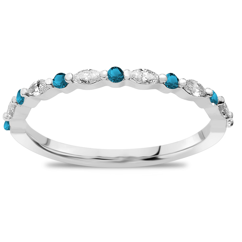 The Fashionista - Natural Blue Diamonds