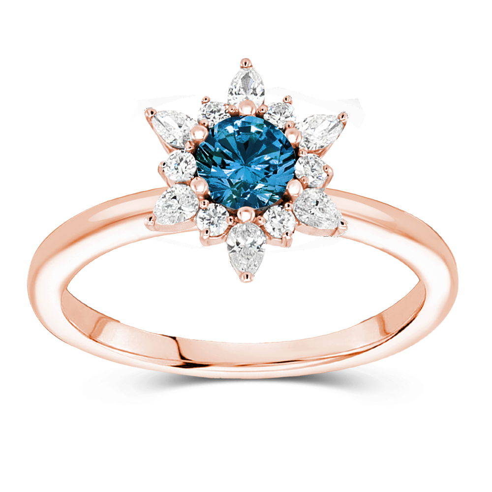 The Karine - Natural Blue Diamond