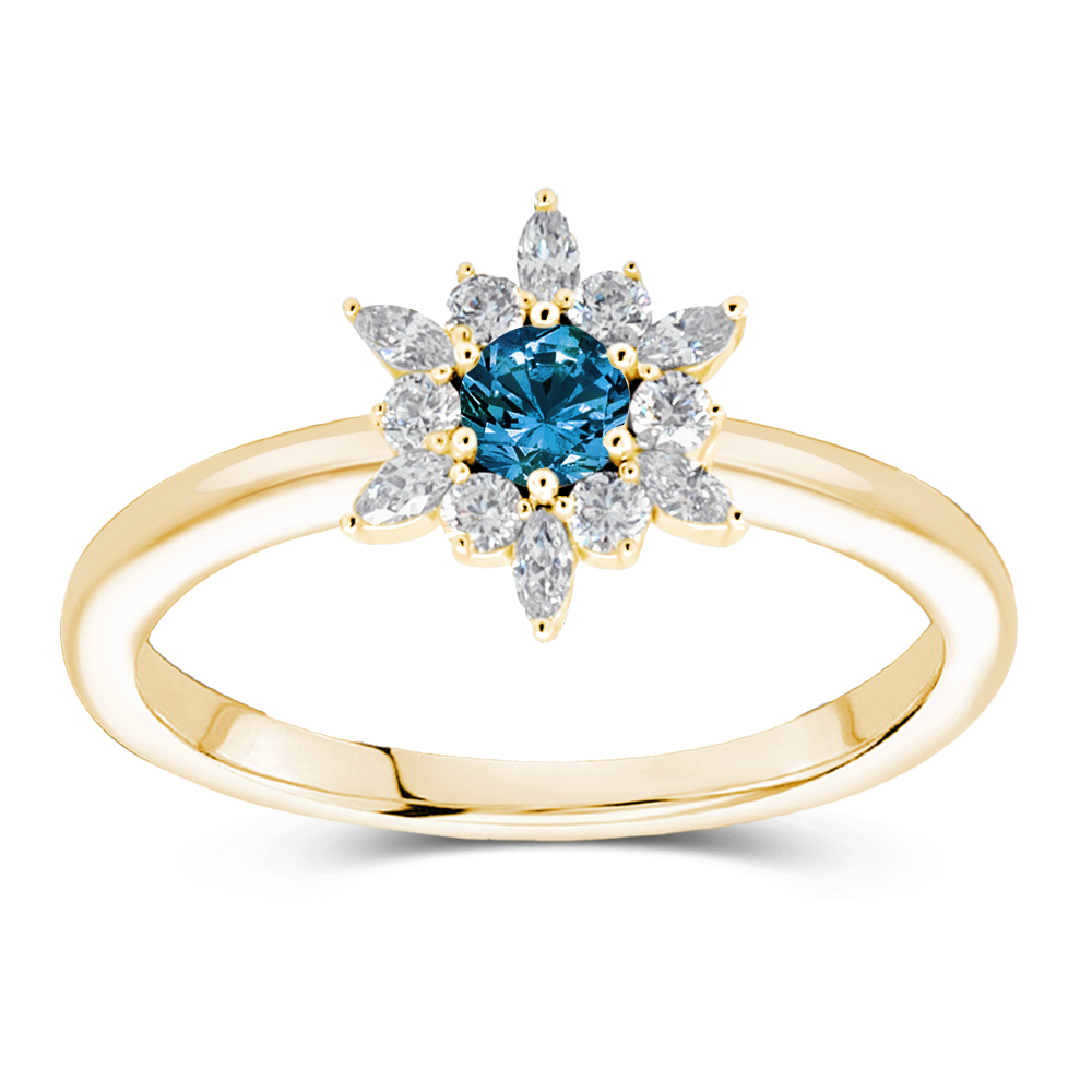 The Lindsey - Natural Blue Diamond