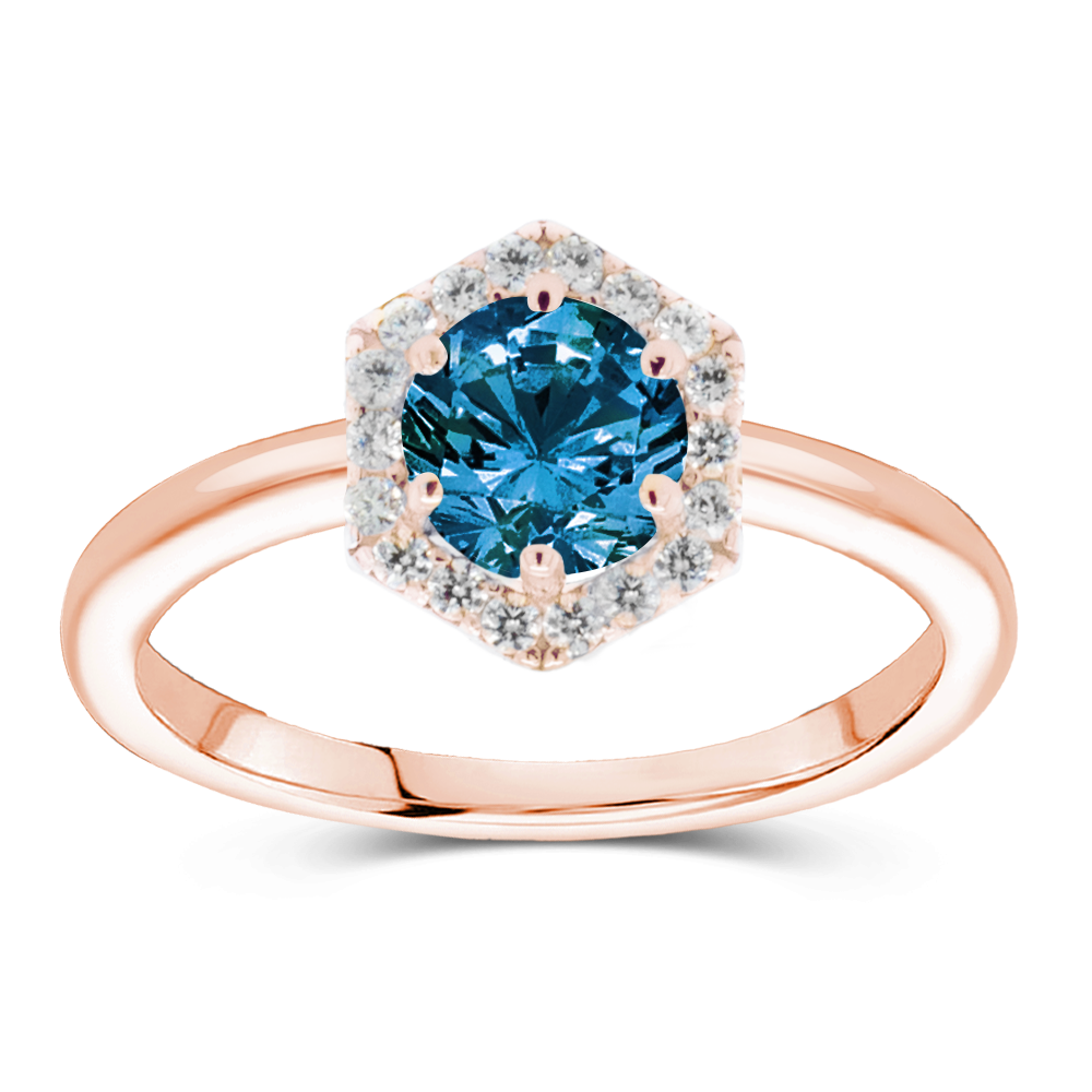 The Luna - Natural Blue Diamond