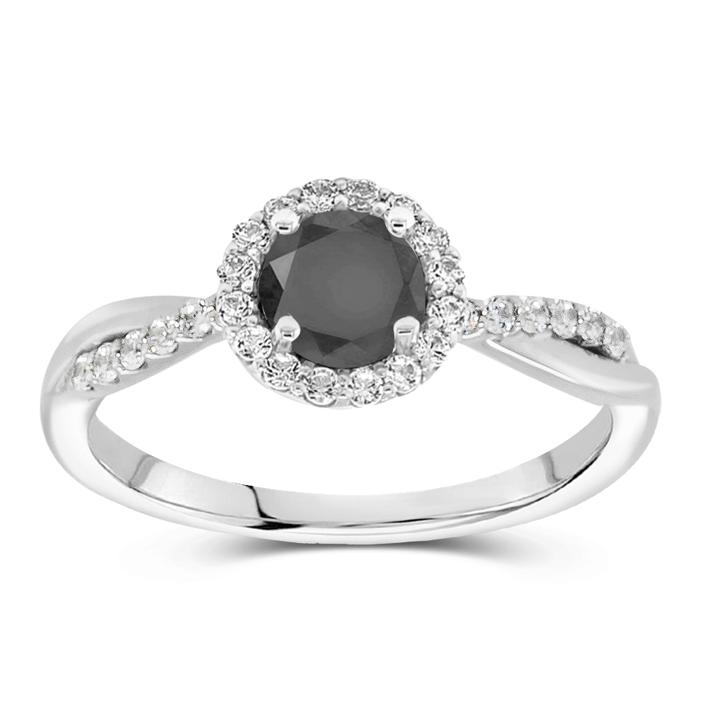 The Rosalind - Natural Black Diamond