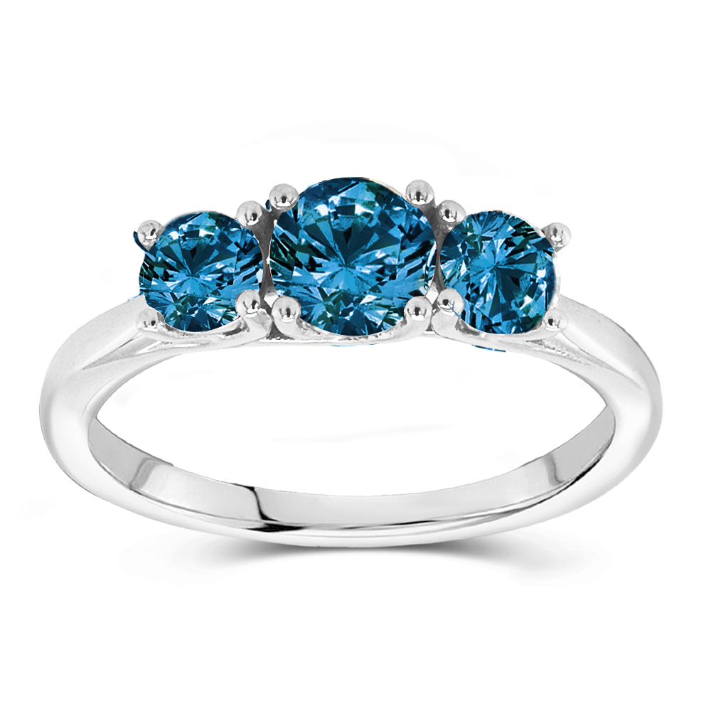 The Stephanie - Natural Blue Diamond