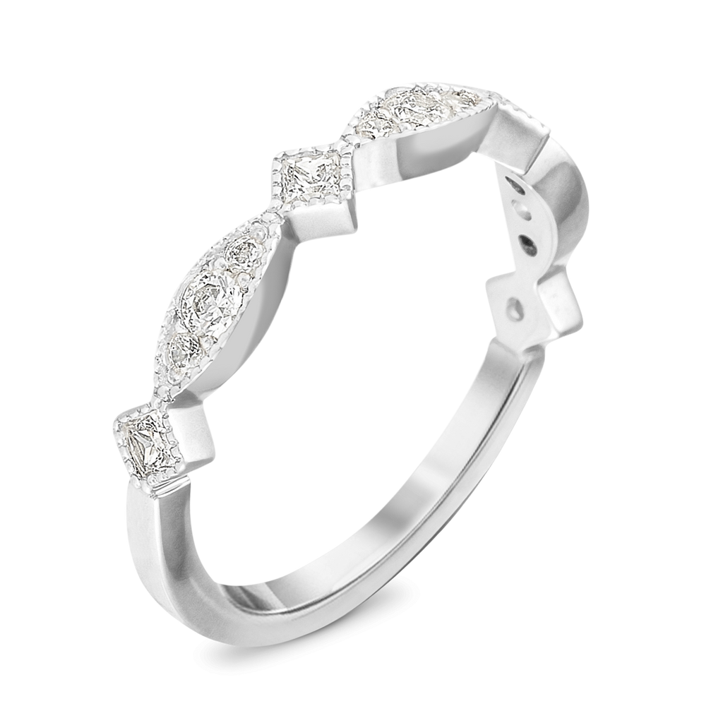 The Trendsetter - 14k White Gold / White Diamonds