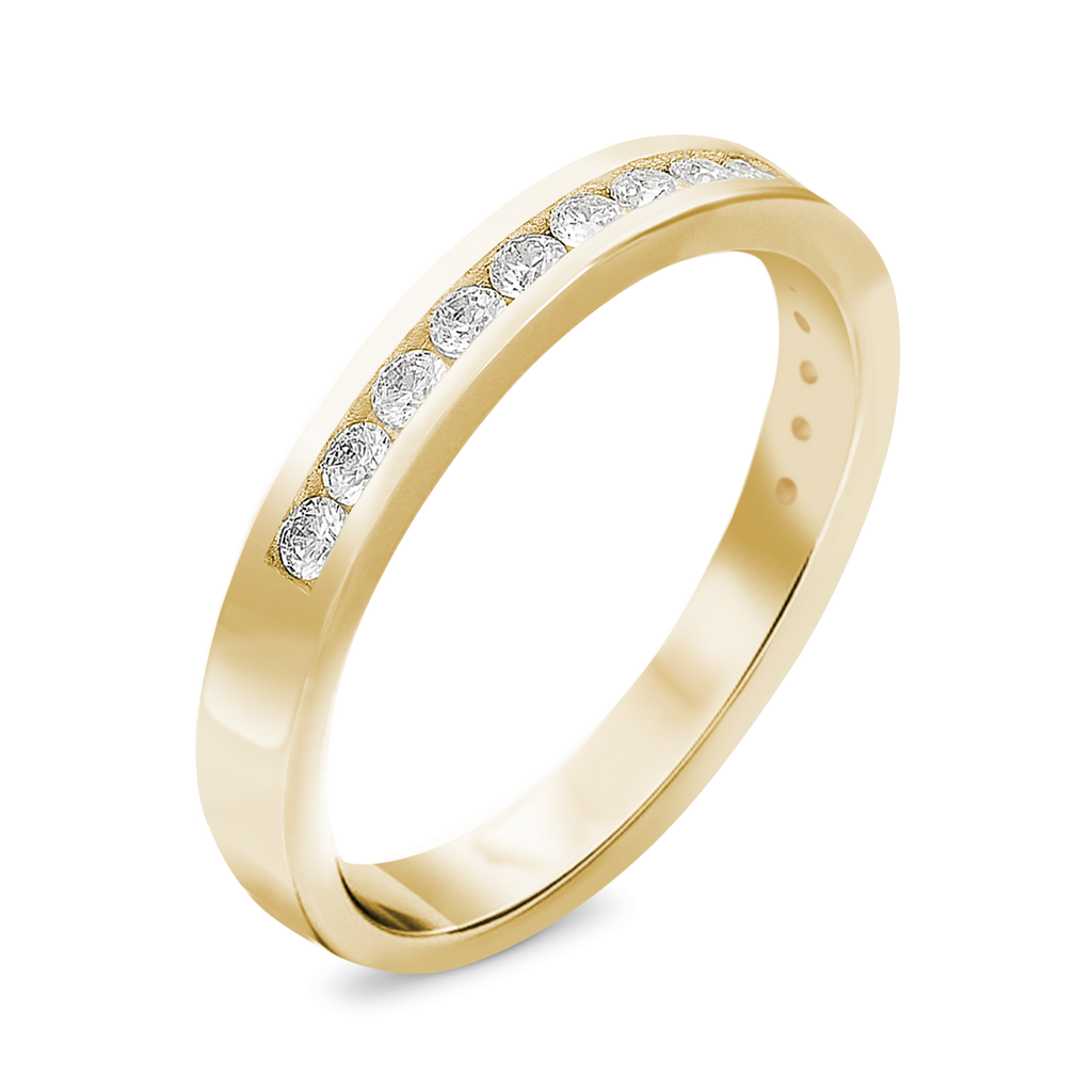 The Revolutionary - 14k Yellow Gold / White Diamonds