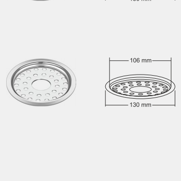 Nirali Joy  Floor Drain In Stainless Steel 304 Grade
