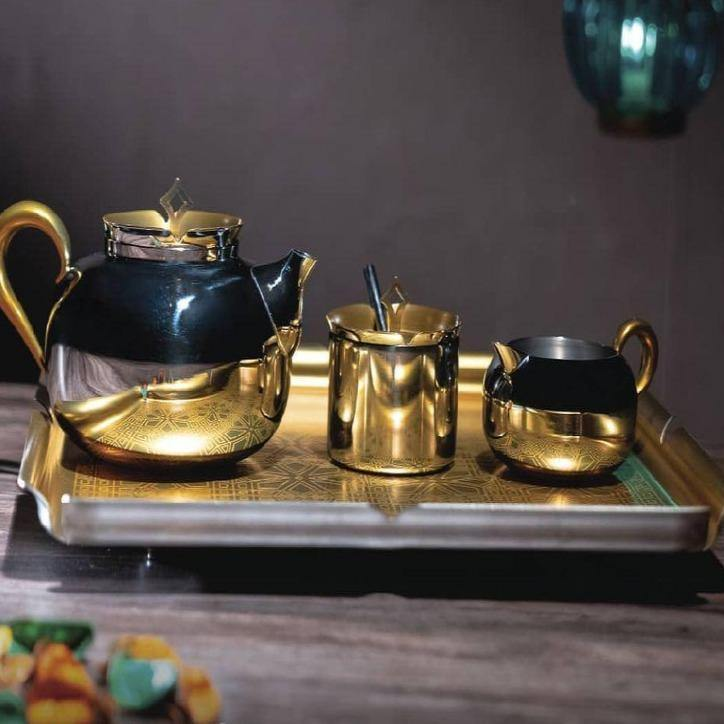 Aladdin Tea Set - For ( 2 Cups & 6 Cups ) in Stainless Steel by Arttdinox