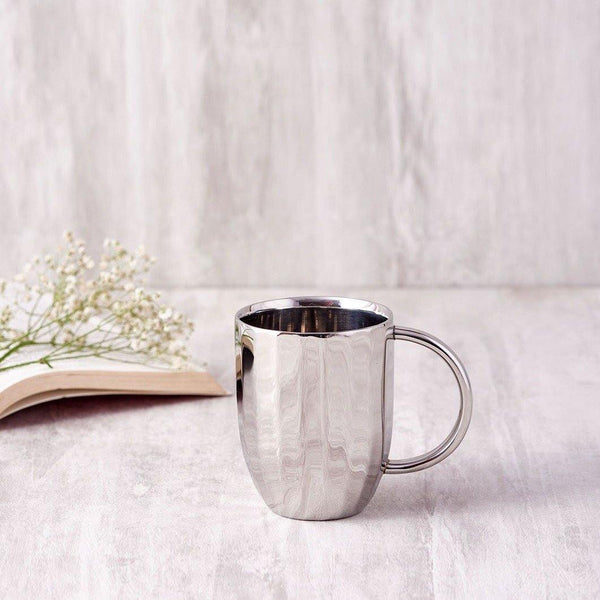 Dome Coffee Mug ( Set of 2 ) in Stainless Steel By Arttdinox
