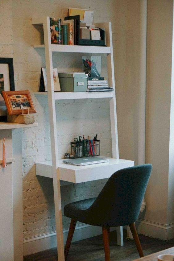 Ladder White Work From Home Study Table