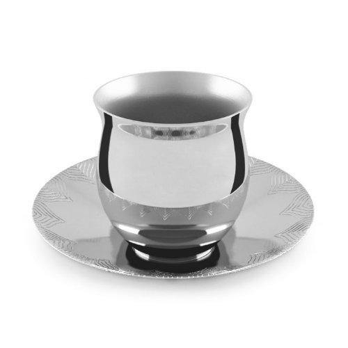Seamless Belly Tea Cup with Saucer ( Set of 2 ) By Arttd-inox