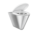Urinals-Bluma Dual Finish- Glossy and Satin in Stainless Steel 304 Grade