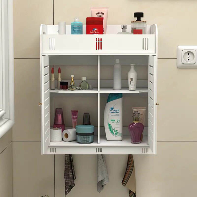 Multipurpose PVC Wall Mounted Bathroom Storage Cabinet Furniture For Bathroom Essentials [38]