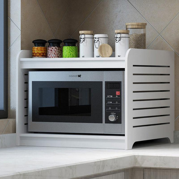 2-Tiers Kitchen Counter Microwave In PVC For Kitchen Essentials