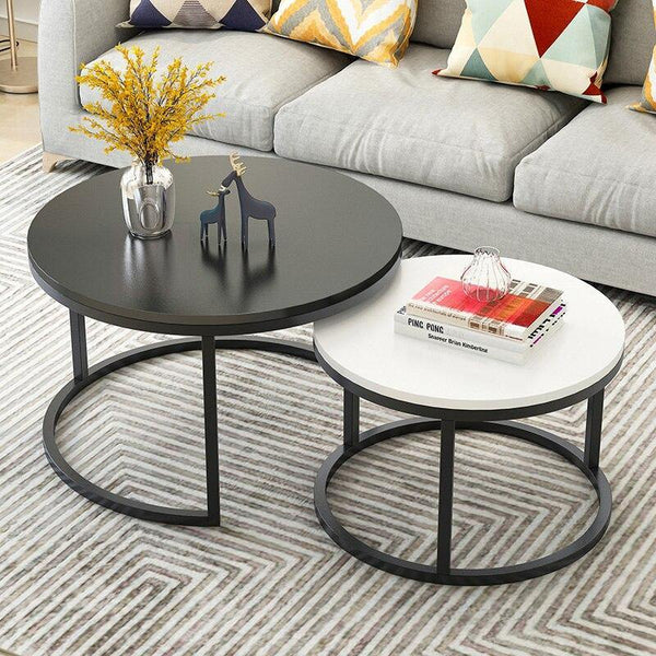 Antique Design Two-Tone Centre Coffee Table For Living Room