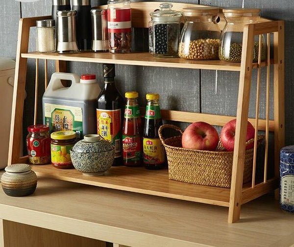Louis Fashion RW Kitchen Islands Condiment Rack Two Layers