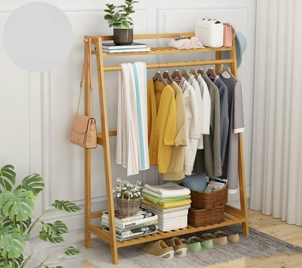 Louis Fashion Clothes Rack Simple Floor Bedroom Shelf