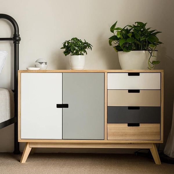 Louis Fashion Living Room Cabinets Solid Wood Simple Modern Bedroom Storage Scandinavian Multi Drawer
