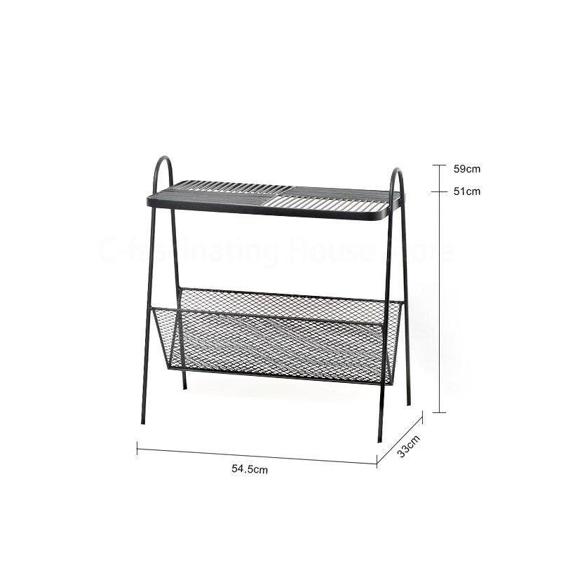 Nordic Sofa Side Small Table Shelf Side Table Iron Corner Table Bedroom Bedside Table Storage Cabinet Table Storage Rack