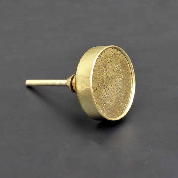 Brass Pinhole With Ring Cabinet Knob