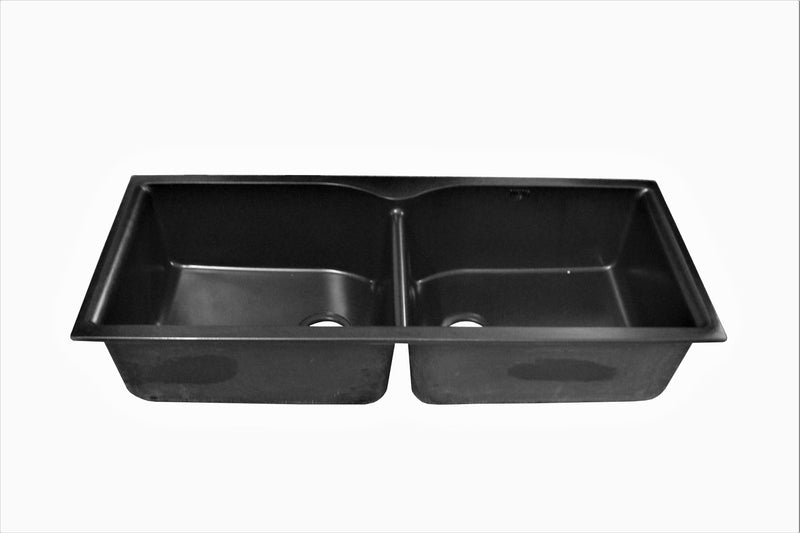 Nirali Archpro Quartz Single Bowl Kitchen Sink in Onyx Finish