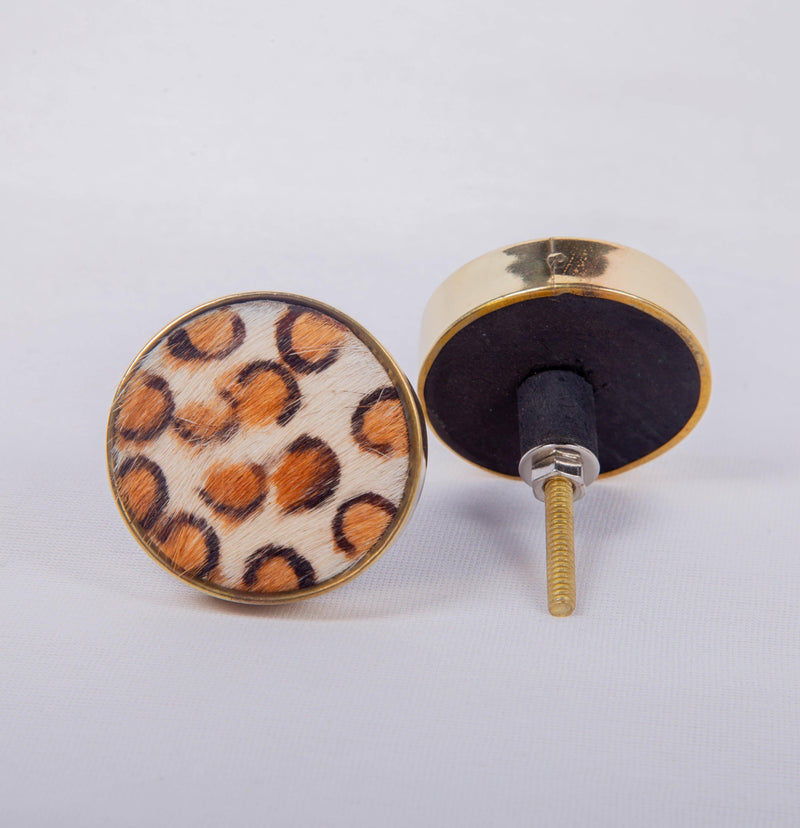 Beautifully Handcrafted Brass Knobs for Cabinets and Cupboards Set of 2
