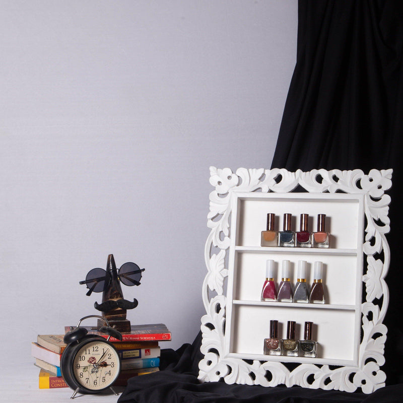 Decorative Nail Polish & Essential Oils Frame Rack Display Storage