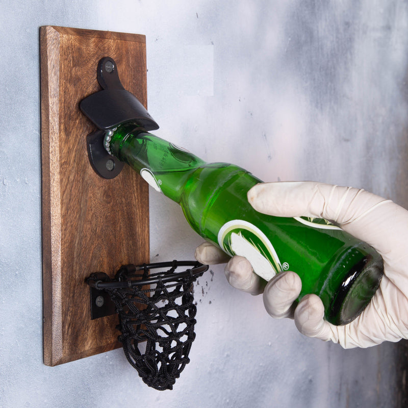 Solid Cool Wooden Magnetic Bottle Opener For Fridge