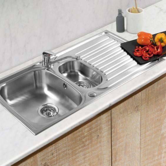 Nirali Fabulous Stainless Steel Single Bowl Kitchen Sink in 304 Grade With Veg Bowl