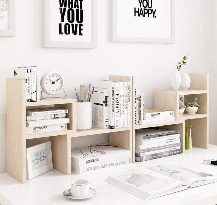 Desktop Organizer Office Storage And Small Book Rack