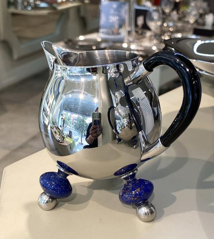 Blueberry Tea Set in Stainless Steel by Arttdinox