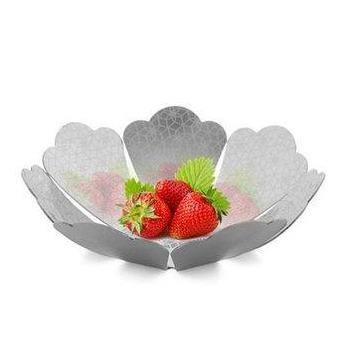 Pink City Fruit Basket with Etching in Stainless Steel By Arttd-inox
