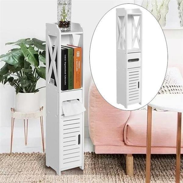 Bathroom Vanity Floor Standing Shelf Storage Cabinet Corner Shelf Storage Racks