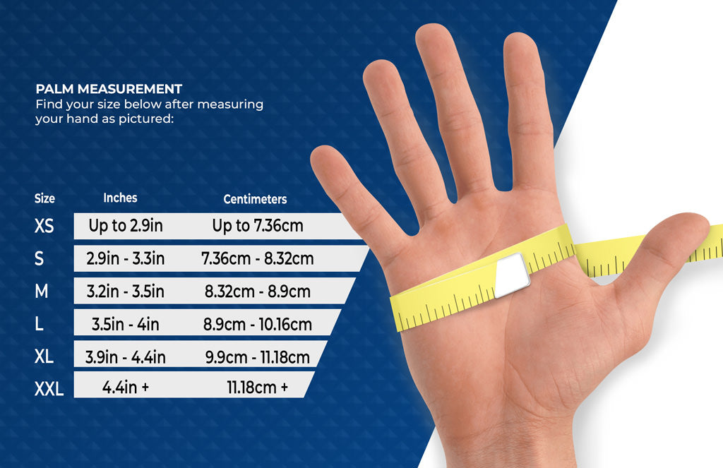 Ammex Industrial Grade Clear Vinyl Gloves Size Chart