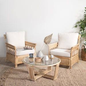 Load image into Gallery viewer, LEENA LOUNGER SET (2 CHAIRS & 1 TABLE)