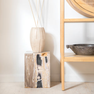 CUBE PETRIFIED SIDE TABLE