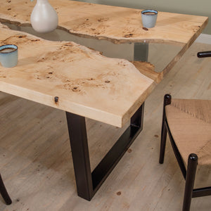 Load image into Gallery viewer, SALICA MAPPA BURL RESIN  DINING TABLE