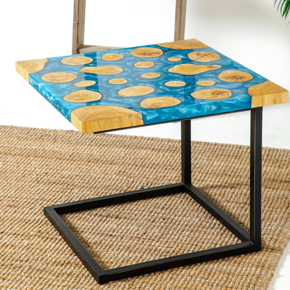 Load image into Gallery viewer, BASS RESIN SIDE TABLE