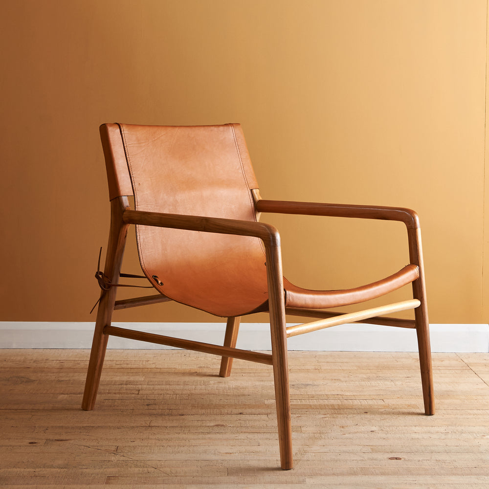 Load image into Gallery viewer, SUTRIS LEATHER LOUNGE CHAIR