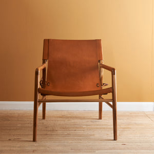 SUTRIS LEATHER LOUNGE CHAIR