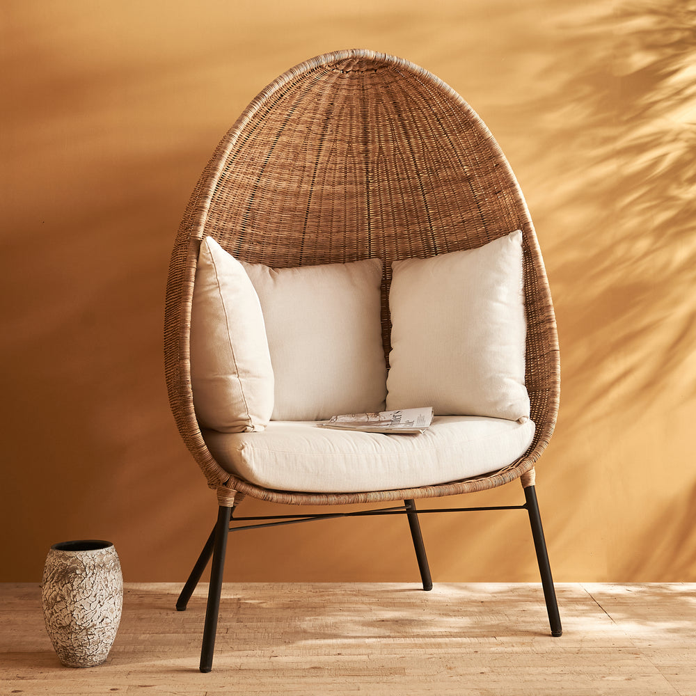 Load image into Gallery viewer, MERA RATTAN LOUNGER