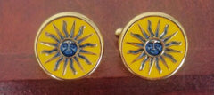 New- Nautical Sun Novelty Cuff Links