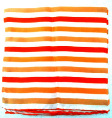 Orange Stripe Silk Pocket Square
