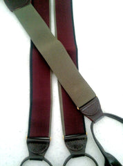 New- German-Made Burgundy Suspenders