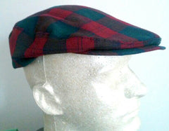 Pendleton- Green/Red Plaid Tartan Wool Cap- Size L