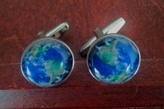New- World Globe Novelty Cuff Links